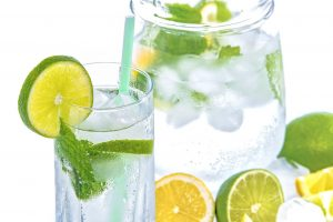 voda, citron